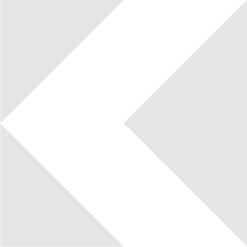 M26x0.75 male to RMS female thread adapter, flangeless, black