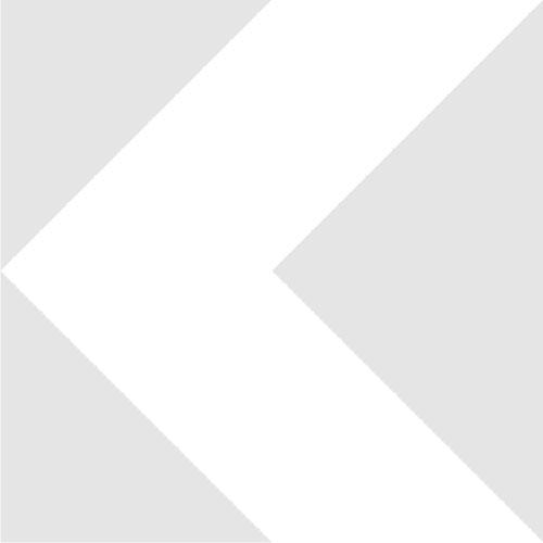 M28x0.75 male to M26x0.75 (0.7) female thread adapter, black