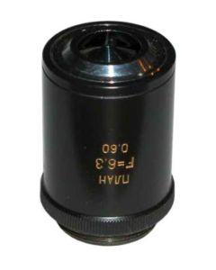 LOMO Microscope Objective - Epiobjective F=6.3mm, n.a.0.60 PLAN